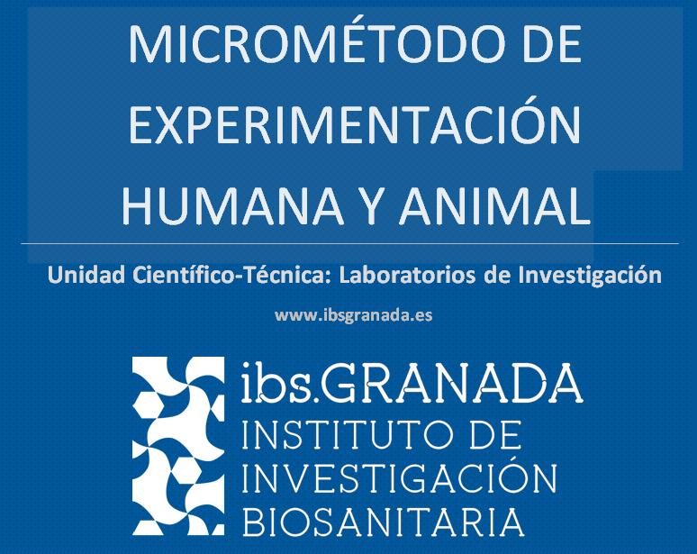 Presentación del Servicio Micrométodo de Experimentación Humana y Animal