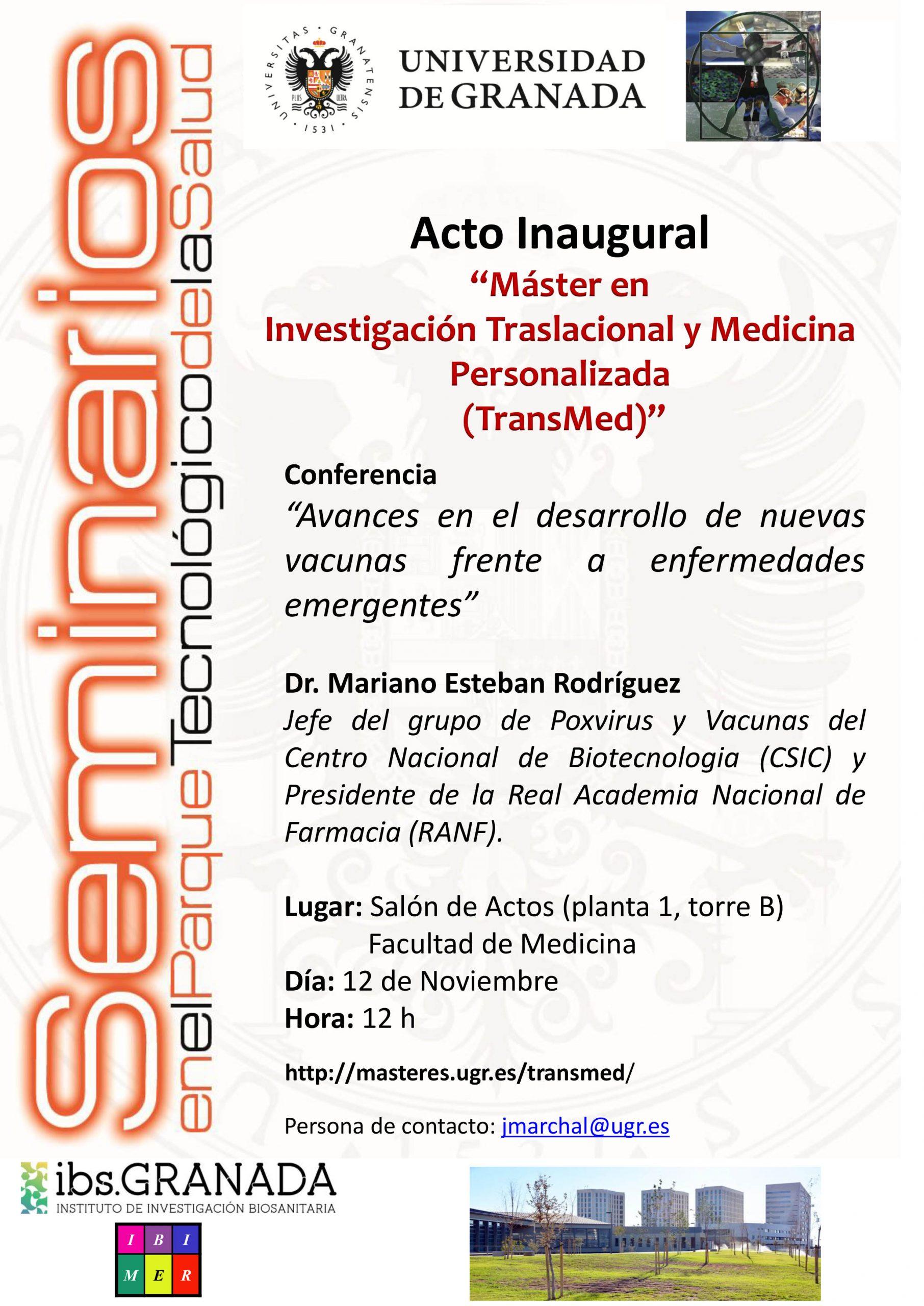 """Conferencia """"Avances en el desarrollo de nuevas vacunas frente a enfermedades emergentes"""""""