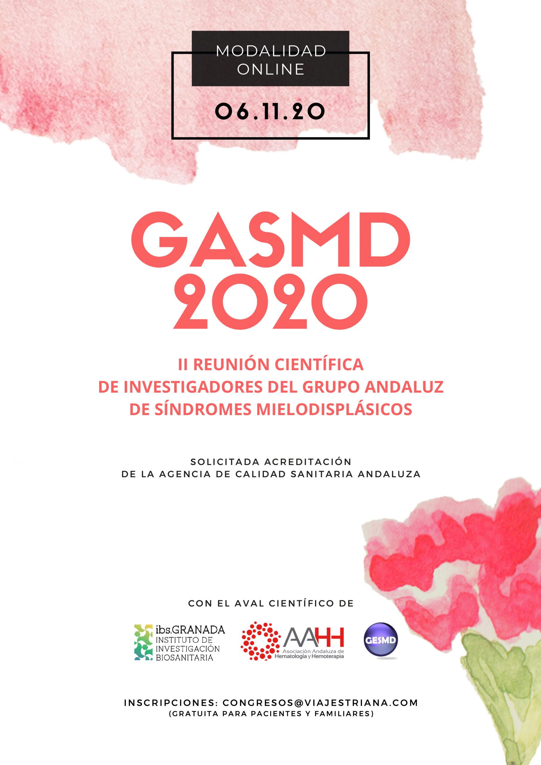 II Reunión Científica de Investigadores del Grupo Andaluz de Síndromes Mielodisplásicos 2020