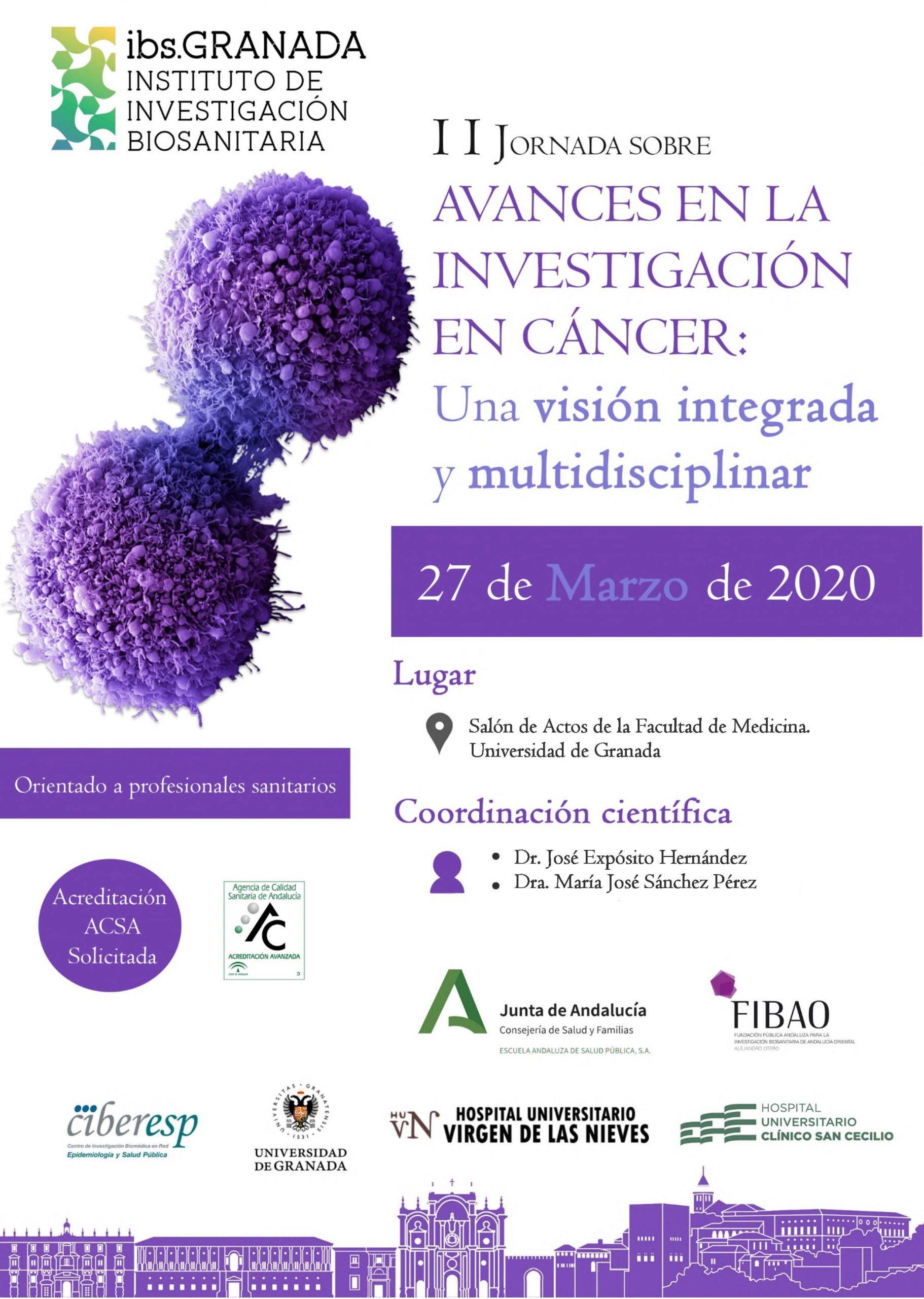 II Jornada Sobre Avances en la Investigación en Cáncer