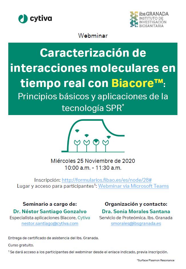 Caracterización de interacciones moleculares en tiempo real con Biacore™: Principios básicos y aplicaciones de la tecnología SPR