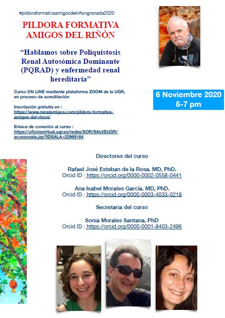 """Píldora Formativa Amigos del Riñón - """"Hablamos sobre Poliquistosis Renal Autosómica Dominante (PQRAD) y enfermedad renal hereditaria"""""""
