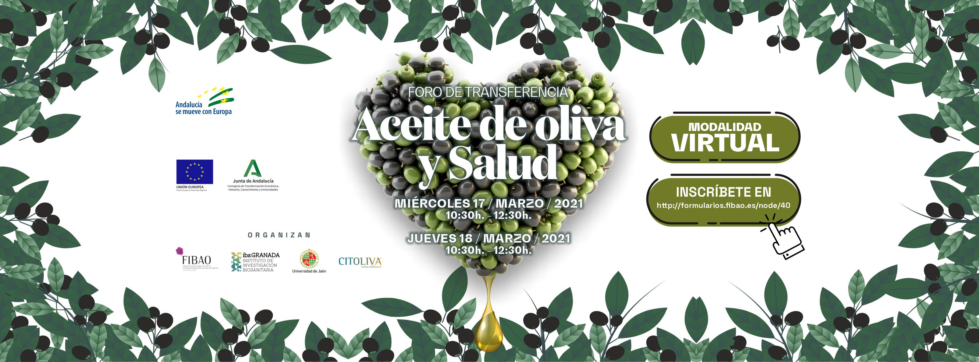 """Foro Transferencia """"Aceite de oliva y salud"""""""